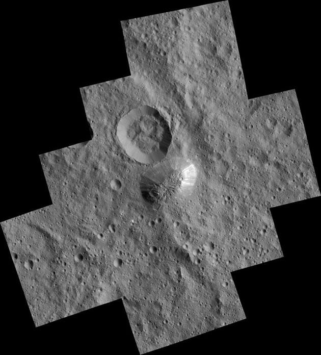 Ahuna Mons: Pyramidenberg auf Ceres in höchster Auflösung