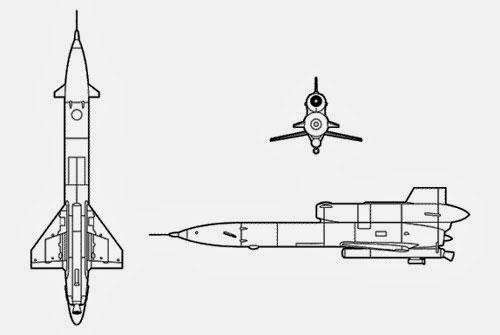 Die sowjetische Drohne M-141 (Darst. nicht Teil der BND-Akte!)
