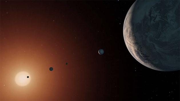 TRAPPIST-1: System mit sieben erdgroßen Planeten ist älter als das Sonnensystem