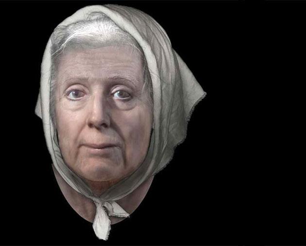 Forscher rekonstruieren das Gesicht einer 313 Jahre alten schottischen Hexe