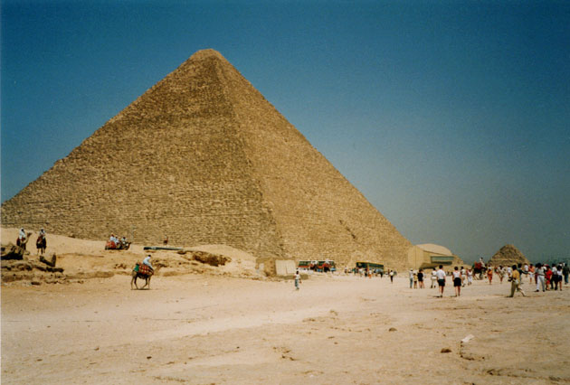 Die Große Pyramide von Gizeh. Copyright: Andreas Müller für Grenzwissenschaft-Aktuell.de