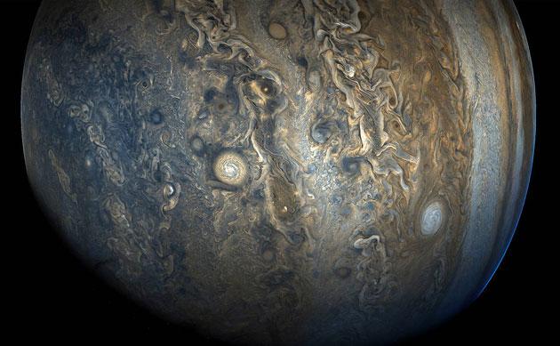 Juno-Sonde liefert neue spektakuläre Aufnahmen der Südhemisphäre des Jupiter