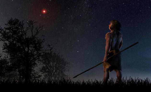 Rote Nachtsonne: Scholz' Stern kam unserer Sonne so nah, dass er Kometen und Asteroiden bis heute beeinflusst