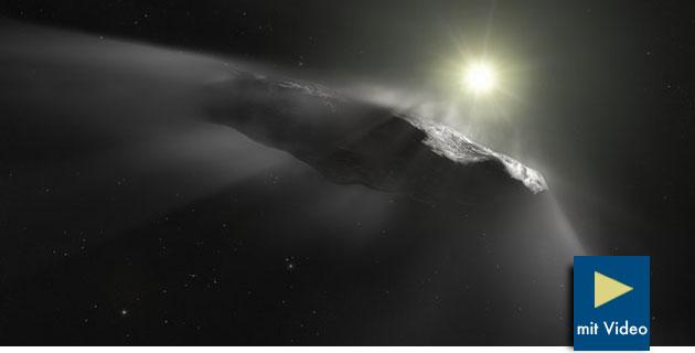 """`Oumuamua: Interestellarer """"Besucher"""" entwickeltet unerwartet Schub"""