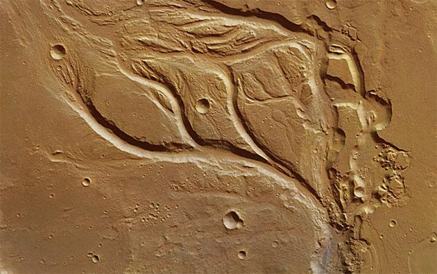 Täler künden von einstigen starken Regenfällen auf dem Mars