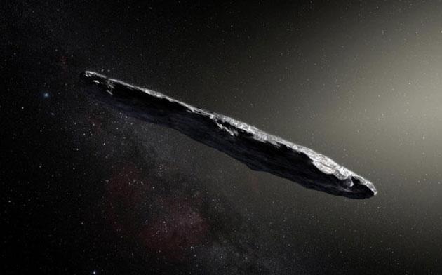 Künstlerische Darstellung des interstellaren Objekts Oumuamua (Illu.). Copyright: ESO/M. Kornmesser