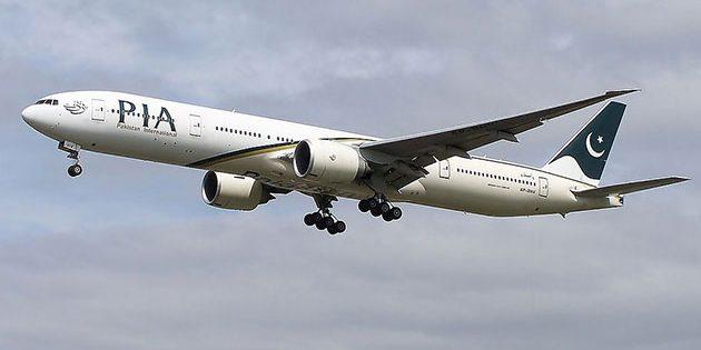 Eine Boing 777 der Pakistan International Airlines
