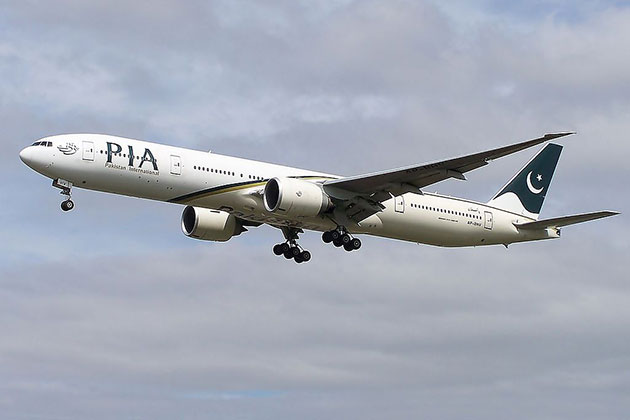 Eine Boing 777 der Pakistan International Airlines