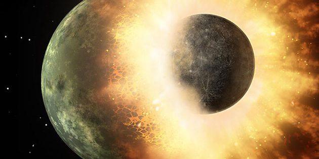 Kollision zweier Protoplaneten.