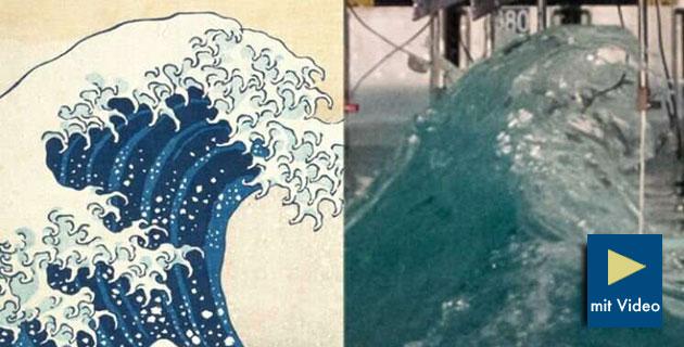 Hokusais Vorbild? – Forscher rekonstruieren erstmals erfolgreich Riesenwelle