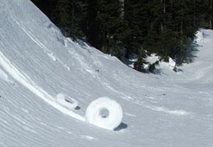 Schneewalzen im North-Cascades-Nationalpark im März 2007.