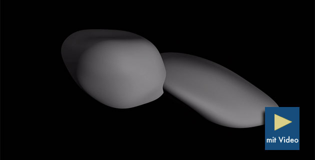 Neu berechnetes Computermodell der Form von Ultima Thule. Copyright: NASA/Johns Hopkins University Applied Physics Laboratory/Southwest Research Institute