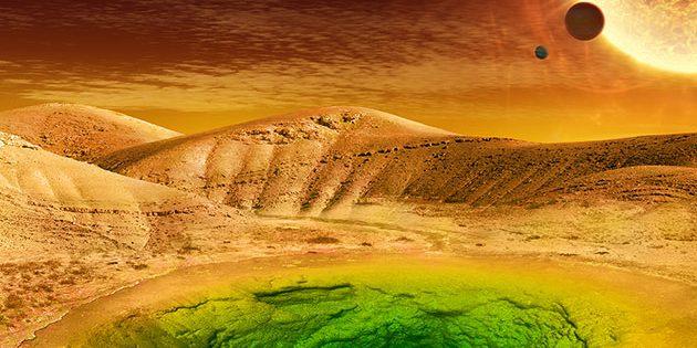 Symbolbild: Suche nach außerirdischem Leben auch an exotischen Orten (Illu.). Copyright: NASA
