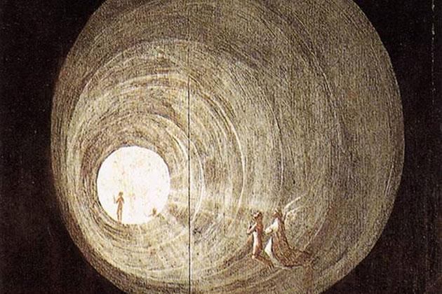 """Ausschnitt aus """"Flug zum Himmel"""" v. Hieronymus Bosch (um 1500). Copyright: gemeinfrei"""