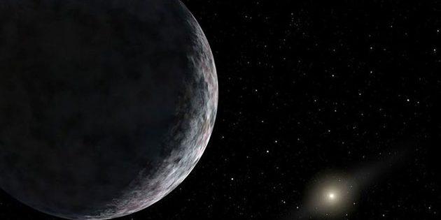 Künstlerische Darstellung eines unbekannten Himmelskörpers im Sonnensystem (Illu.). Copyright: NASA/JPL-Caltech