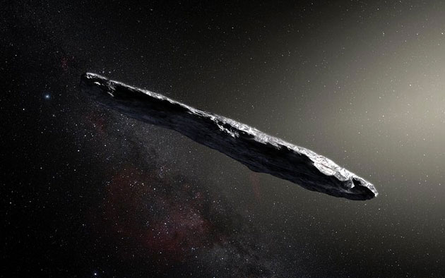 Künstlerische Darstellung des Objekts 'Oumuamua (Illu.).Copyright: ESO/M. Kornmesser