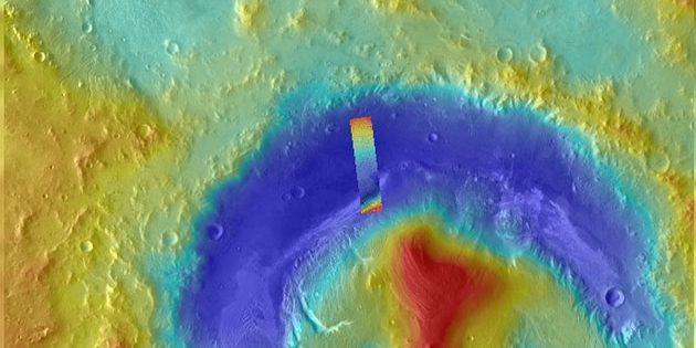 Methan-Messung über den Gale-Krater. Copyright: Giuranna et al. (2019)