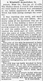 """Der Originalartikel vom 19. April 1897 im """"The Dallas Morning News"""".Klicken Sie auf die Bildmitte, um zu einer vergrößerten Darstellung zu gelangen. Copyright: Gemeinfrei"""