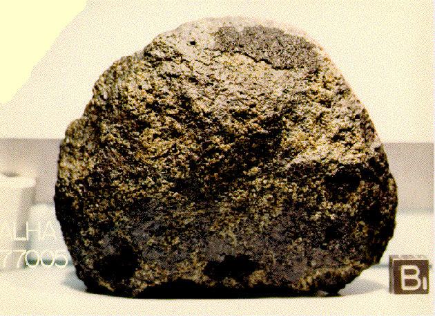 """Der Mars-Meteorit """"ALH-77005"""". Copyright: NASA - Johnson Space Center"""