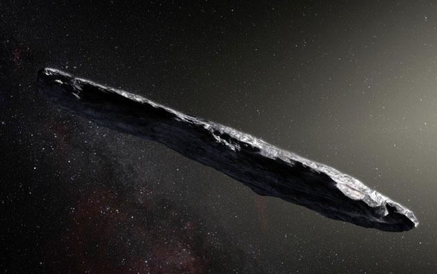 Künstlerische Darstellung des Objekts 'Oumuamua (Illu.). Copyright: M. Kornmesser/ESO