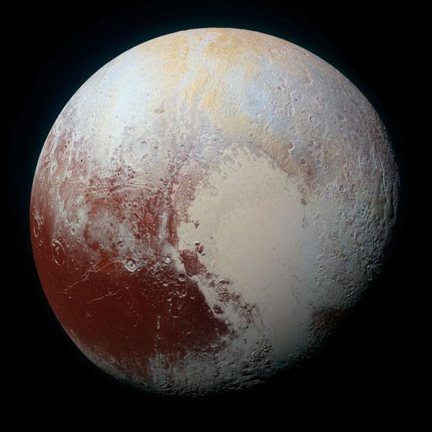 New Horizons-Aufnahmen des Zwergplaneten Pluto. Copyright: NASA/APL/SwRI