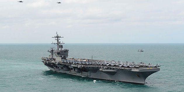 """Die """"USS Theodore Roosevelt"""" im Atlantik, 2015. Copyright: Public Domain"""