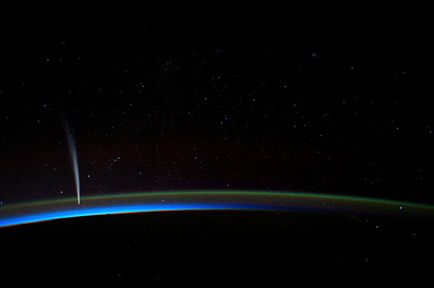 """Symbolbild: Der Komet """"Lovejoy"""", fotografiert von Bord der ISS. Copyright: Gemeinfrei"""