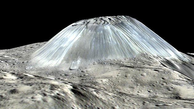 Ahuna Mons: Kegelberg auf Ceres war einst ein Eisvulkan
