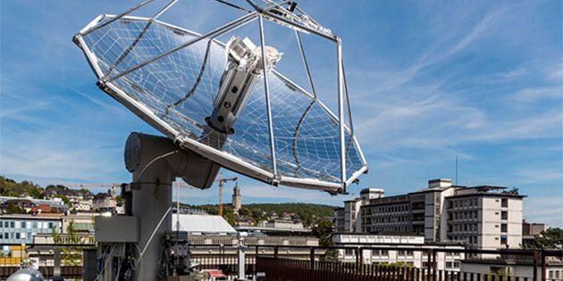 Die Forschungsanlage steht auf dem Dach des ETH-Gebäudes an der Sonneggstrasse. Copyright: ETH Zürich / Alessandro Della Bella