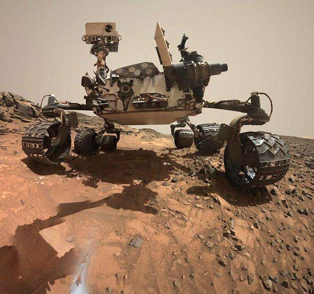 "Selbstportrait des Mars-Rovers ""Curiosity"". Copyright: NASA"