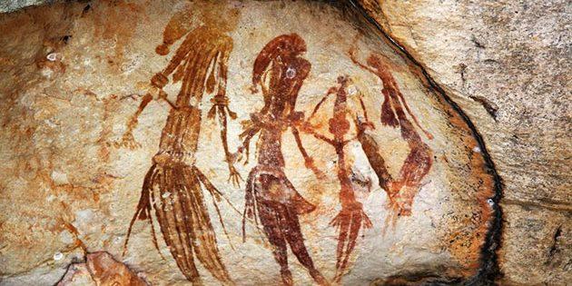 Symbolbild: Wandmalerei der Aborigines.