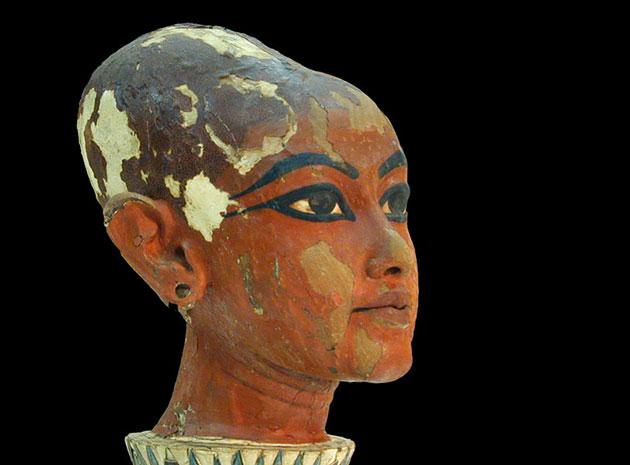 Tonkopf-Abbildung des jungen Tutanchamun, zu sehen im Ägyptischen Museum Kairo. Copyright: Jean-Pierre Dalbéra (via WikimediaCommons) / CC-BY 2.0