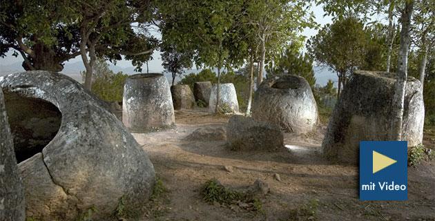 Archäologen finden weitere mysteriöse megalithische Steinkrüge in Laos