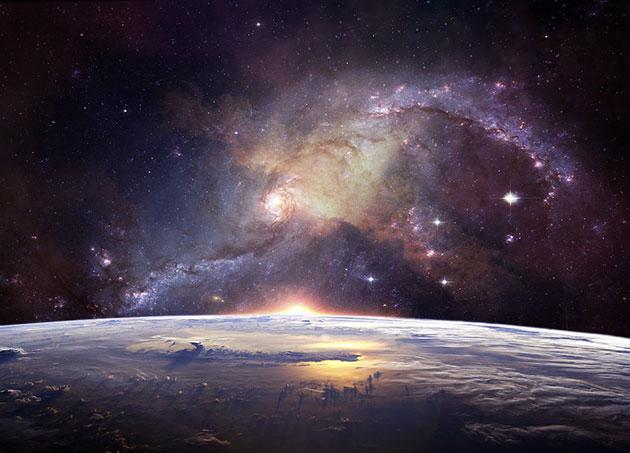 Symbolbild: Erde und Kosmos (Illu.) Copyright: Lumina Obscura (via Pixabay.com) / Pixabay License