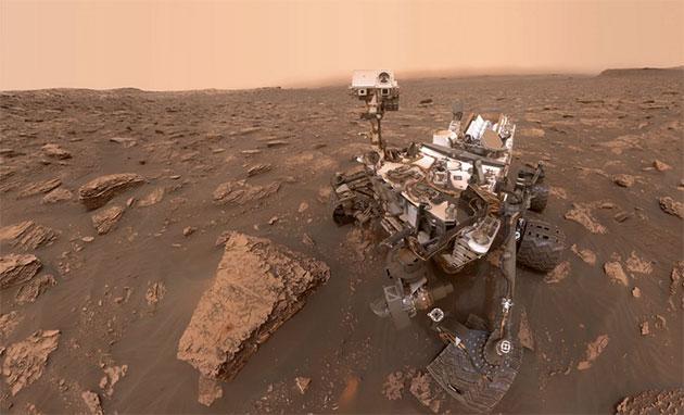 "Der Mars-Rover ""Curiosity"" im Selbstporträt. Copyright: NASA/Caltech"