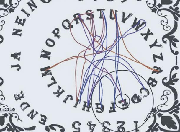 Symbolbild: Ouija-Brett-Analyse. Copyright: E. Kruse