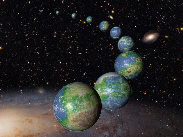 Künstlerische Darstellung erdähnlicher Planeten (Illu.). Copyright: NASA/ESA/G. Bacon (STScI)