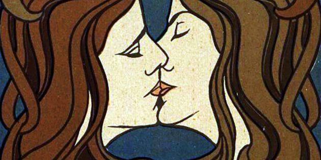 """Symbolbild: """"Der Kuss"""" von Peter Behrens (1898). Copyright: Gemeinfrei"""