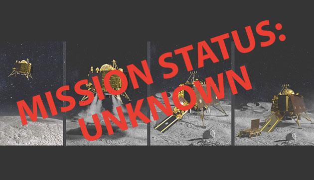 """Symbolbild: Missionsstatus der indischen Landeeinheit """"Vikram"""" ist weiterhi unklar. Copyright: grewi.de (mit Bildmaterial von ISRO)"""