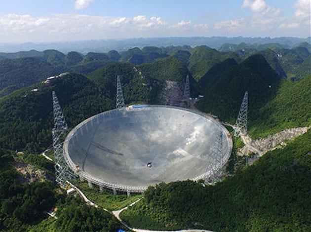 Das FAST-Radioteleskop in Dawodang in der südostchinesischen Provinz Guizhou Copyright: NAOC