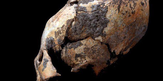 Ein in Houtaomuga gefundener, rund 6.000 Jahre alter Langschädel eines Kindes. Copyright/Quelle: Q. Wang et al. / Journal of Physical Anthropolgy, 2019