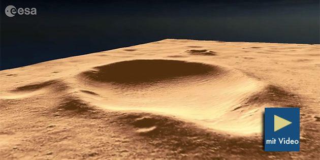 Blick auf das 3D-Geländemodell der Marsregion Oxia Planum. Copyright: TU Dortmund/NASA JPL-Caltech