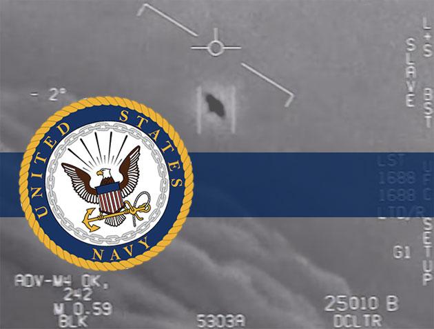 Symbolbild US Navy und UFOs (Illu.). Copyright: US Navy (Komp.: grewi.de)