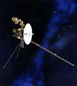 """Die irdische Weltraumsonde """"Voyager 1"""" (Illu.). Copyright: NASA"""