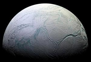 Der Saturnmond Enceladus. Copyright: NASA/JPL/Space Science Institute