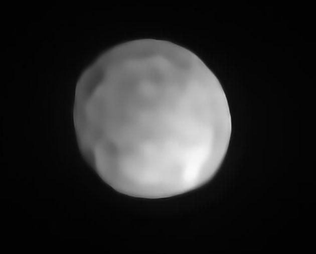 Visualisierung der neusten Beobachtungsdaten zum Objekt Hygiea im Asteroidengürtel. Copyright: ESO/P. Vernazza et al./MISTRAL algorithm (ONERA/CNRS)
