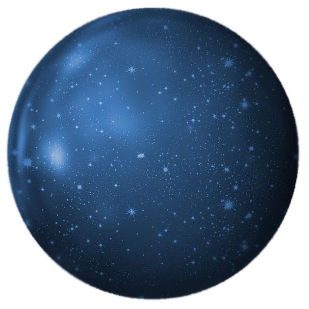 Das Universum als Kugelform (Illu.). Copyright: geralt (via Pixabay.com), Pixabay License (bearb.: grewi.de)