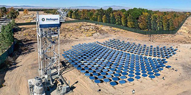 Die Heliogen-Anlage im kalifornischen Lancaster. Copyright: heliogen.com