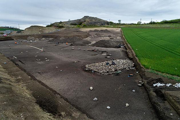 Weitere Ansicht der Anlage aus der Bodenperspektive. Copyright/Quelle: Denis Gliksman / INRAP