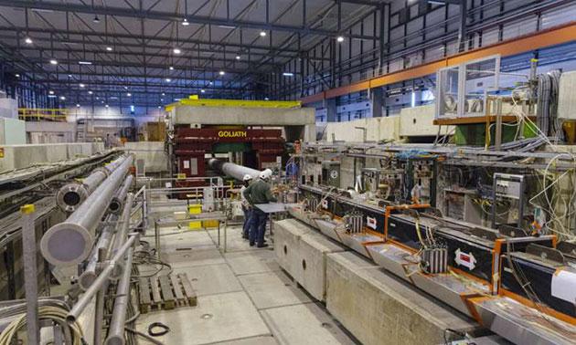 Blick auf das NA64-Experiment am CERN. Copyright: CERN